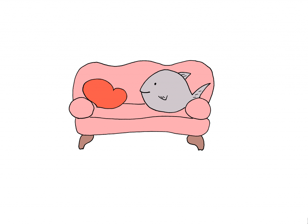 Illustration Fisch von Arezu Weitholz