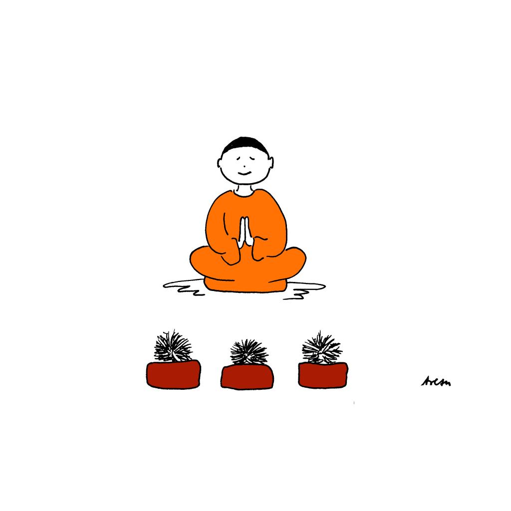Igel mit Buddha von Arezu Weitholz